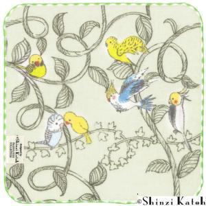 【ShinziKatoh】とりと蔦 タオルハンカチ|torimura