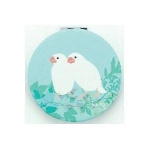 【ORRB】トリノス コンパクトミラー 文鳥 緑|torimura