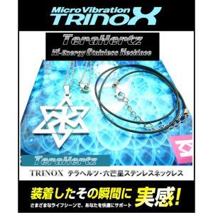 TRINOX テラヘルツ・-六芒星ステンレスネックレス 六芒星ペンダント 35mm 4g サージカル ステンレスチェーン アズキ 1.2mm 50cm 紐チョーカー ブラック 1mm 48cm torinox-store