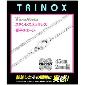 テラヘルツ加工 TRINOX サージカル・ステンレスネックレス 喜平 2mm×45cm torinox-store