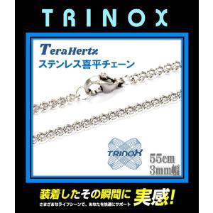テラヘルツ加工 TRINOX サージカル・ステンレスネックレス 喜平 3mm×55cm torinox-store