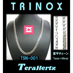 テラヘルツ加工 TRINOX サージカル・ステンレスネックレス  喜平 7mm×60cm TSN-001 torinox-store