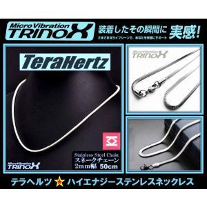 テラヘルツ加工 TRINOX サージカル・ステンレスネックレス  スネイク:2mm×50cm TSN-006 torinox-store