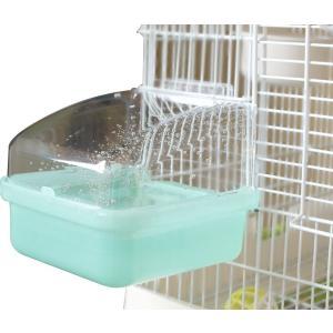 インコのおもちゃ 外掛式バードバス 外掛け用水浴び器|torippie