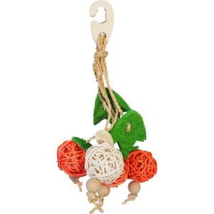 インコのおもちゃ ナチュラルハンガー フルーツ|torippie