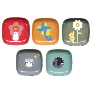 (KOTORITACHI)角鳥皿揃 5枚セット  インコの角皿|torippie