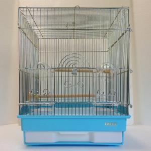 HOEI 35角G カラー:ブルー ワイヤー:銀 (文鳥、セキセイインコに)|torippie