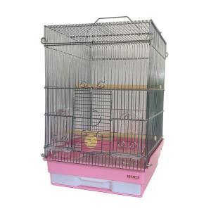HOEI 35手のりG 色:ピンク ワイヤー:銀 (オカメインコ等の中型インコに)|torippie