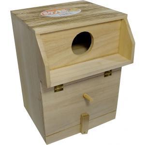 木製巣箱 ボタンインコ、コザクラインコ巣箱 torippie