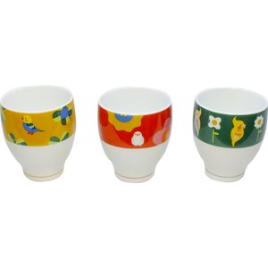 (KOTORITACHI)インコ 湯のみ 全3種類  コップ マグカップ 湯飲み|torippie