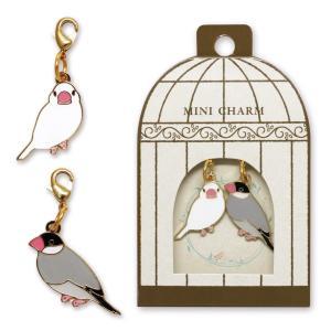pi: チャームストラップ2羽セット 文鳥(ブンチョウ) メール便|torippie
