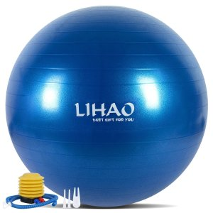 LIHAO バランスボール 65cm ダイエットボール ヨガボール エクササイズボール アンチバース...