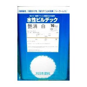 大日本塗料 水性ビルデック艶消 白 16kg|toryouya-honnpo