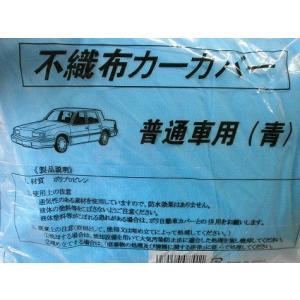 大塚刷毛製造 不織布カーカバー 普通車用 青 toryouya-honnpo