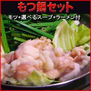 送料無料◆5種類の味が選べる♪お手軽もつ鍋セット300g|tosameat