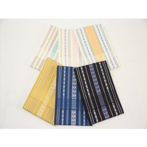 本場筑前博多織 浴衣用にピッタリの単の帯です。 もちろん絹100% 正絹です。  博多織は、やはりキ...