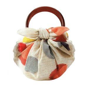 むす美 モダンガール いちごバッグ 水玉 取り寄せ商品 むす美 musubi 掲載 和小物 風呂敷|tosen