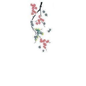 踊り衣裳【注染 長尺手拭 い印】黒・赤・緑×白 もみじ 取り寄せ商品 「日本の踊り」掲載 和雑貨 て...