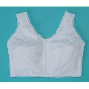バストを ソフトにおさえ 美しい着物姿を 作り出す 和装ブラジャーです  フロントファスナーで着脱簡...