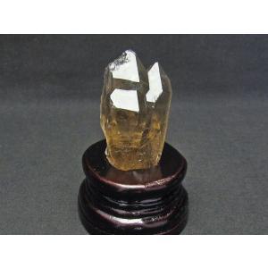 スモーキークォーツ 煙水晶 原石 ルチルクォーツ入り 台座付属 171-539|tosho-stones|02