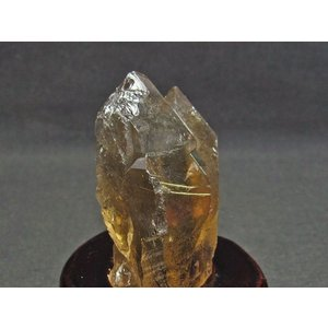 スモーキークォーツ 煙水晶 原石 ルチルクォーツ入り 台座付属 171-539|tosho-stones|04