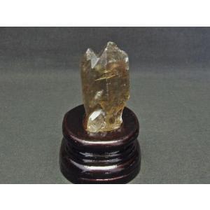 スモーキークォーツ 煙水晶 原石 ルチルクォーツ入り 台座付属 171-539|tosho-stones|05
