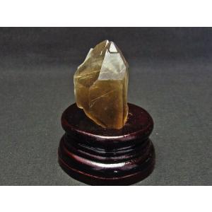 スモーキークォーツ 煙水晶 原石 ルチルクォーツ入り 台座付属 171-543|tosho-stones|02