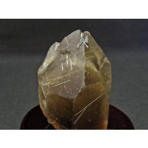スモーキークォーツ 煙水晶 原石 ルチルクォーツ入り 台座付属 171-543|tosho-stones|03