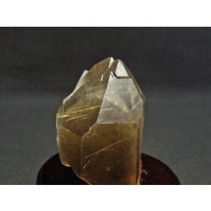 スモーキークォーツ 煙水晶 原石 ルチルクォーツ入り 台座付属 171-543|tosho-stones|04