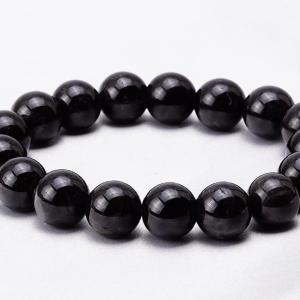 モリオン 黒水晶 ブレスレット 12mm メール便可 [M便 1/10] 711-255