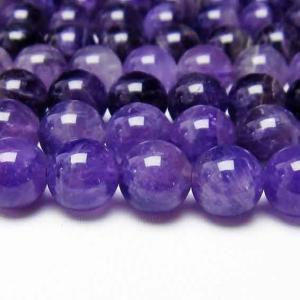 アメジスト 紫水晶 一連 ファントム 10mm メール便可 [M便 1/5] 714-49 tosho-stones