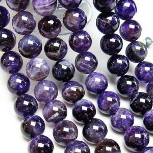 アメジスト 紫水晶 一連 ファントム 14mm メール便可 [M便 1/5] 714-50