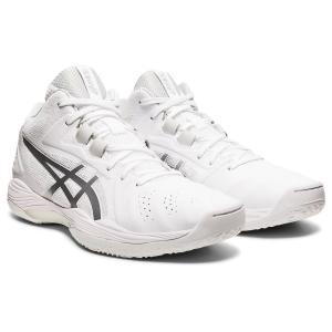 アシックス asics バスケットボール バスケットシューズ メンズ レディース ゲルフープ V13 スタンダード 1063A035-100 ホワイト×ピュアシルバー totai
