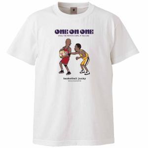 basketball junky バスケットボールジャンキー バスケットボール tシャツ メンズ レディース 半袖Tee One on One? BSK21101-1 ホワイト|totai