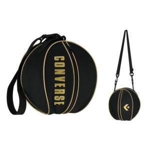 コンバース convers バスケットボール ボールバッグ 1個入れ C1951097-1982 ブラック×ゴールド|totai