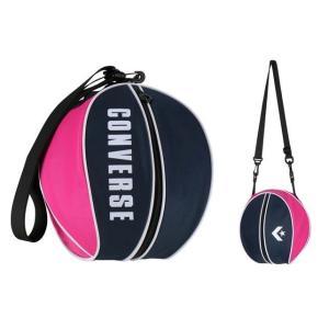 コンバース convers バスケットボール ボールバッグ 1個入れ C1951097-2961 ネイビー×ピンク|totai