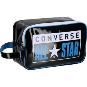 コンバース(converse) エナメルシューズケース バスケットボール用品 ブラック×ブルー C1953097-1923 totai