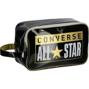 コンバース(converse) エナメルシューズケース バスケットボール用品 ブラック×ゴールド C1953097-1982 totai