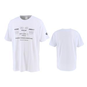 コンバース converse バスケットボール tシャツ メンズ レディース プリントTシャツ CB211358-1100 ホワイト|totai