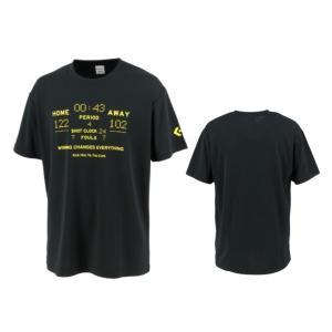 コンバース converse バスケットボール tシャツ メンズ レディース プリントTシャツ CB211358-1900 ブラック|totai
