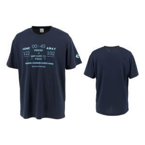 コンバース converse バスケットボール tシャツ メンズ レディース プリントTシャツ CB211358-2900 ネイビー|totai