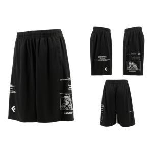 コンバース converse バスケットボール バスパン メンズ レディース プラクティスパンツ 股下約25cm CB211859-1911 ブラック|totai