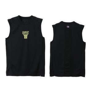 チャンピオン champion バスケットボール ジュニア ノースリーブシャツ CK-TB313-090 ブラック|totai