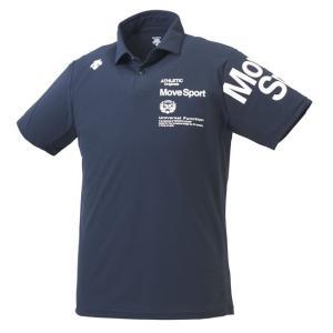Move Sport デサント DESCENTE サンスクリーン ポロシャツ メンズ レディース スポーツウェア ネイビー DMMNJA71-NV|totai