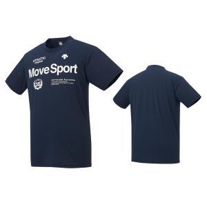 デサント DESCENTE Move Sport サンスクリーン 半袖Tシャツ メンズ レディース DMMRJA60-NV ネイビー|totai