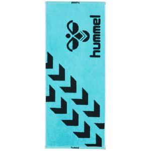 ヒュンメル(hummel) スポーツタオル スポーツ用品 アサギ×ブラック HAA5021-6290|totai