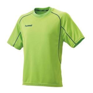 (訳あり) ヒュンメル hummel サッカーウェア 半袖プレゲームシャツ HAG3013-52 ライトグリーン|totai