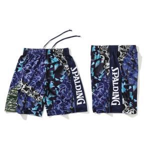スポルディング SPALDING バスケットボール バスパン メンズ プラクティスパンツ ミックスカモ 股下約24cm SMP201120 ブルー|totai
