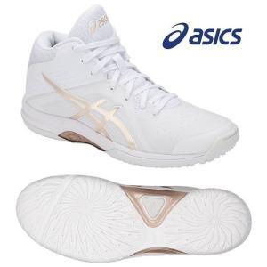 アシックス asics バスケットボールシューズ レディース LADY GELFAIRY 8 レディゲルフェアリー 8 TBF403-100 ホワイト×FROSTED ALMOND totai