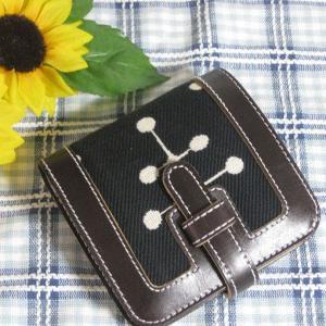 【イームズ&ジラルド生地×牛革】財布 ブラック|totalbox